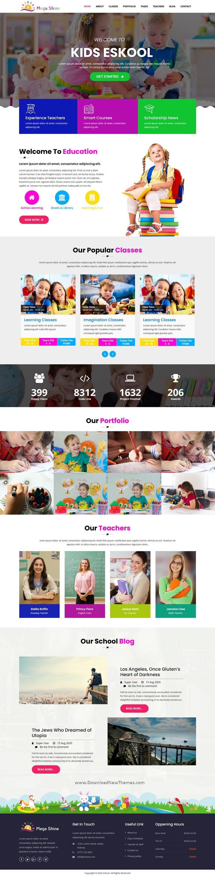 Education Primary School Joomla Template