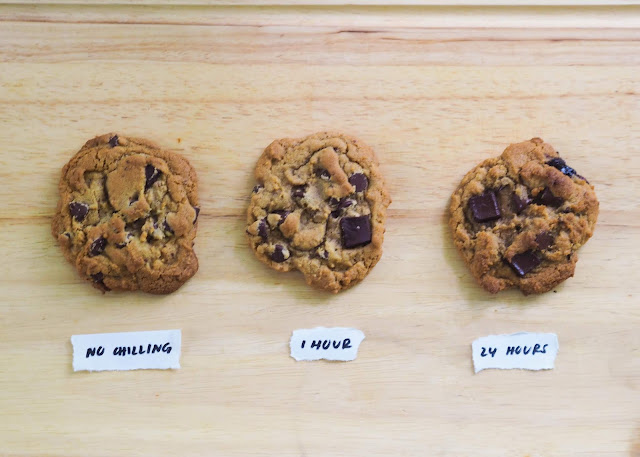chilling of the cookie dough comparison test