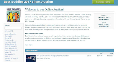 Best Buddies Online Silent Auction – Opens Friday, March 3rd