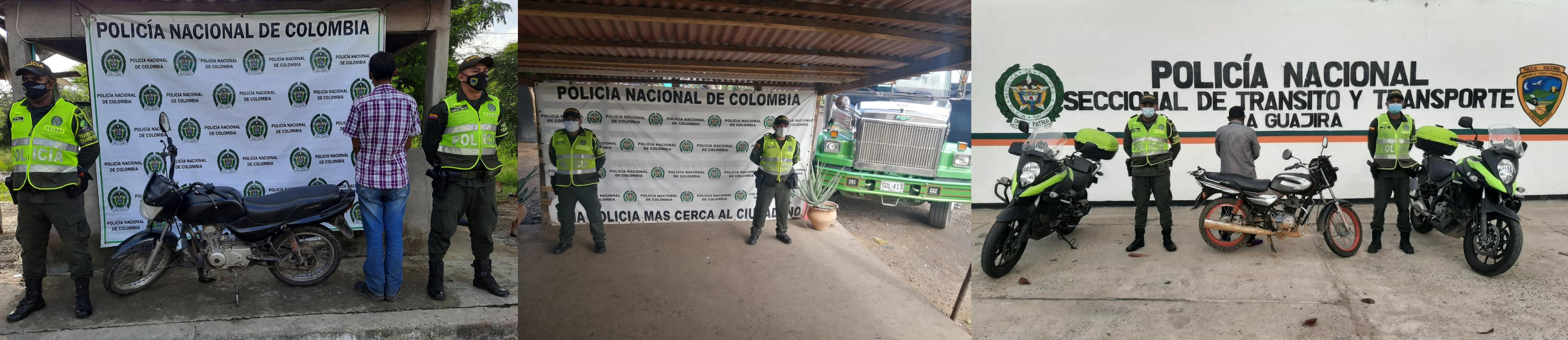 hoyennoticia.com, Capturado con una moto robada en Riohacha y un tracto camión inmovilizado por embargo