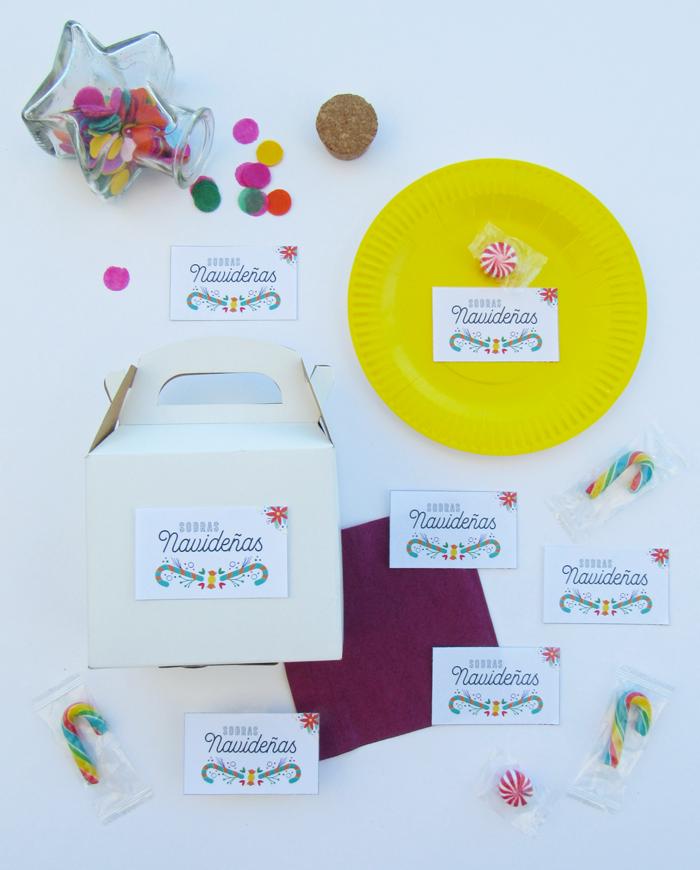 Etiquetas de sobras navideñas, mesa, comida, descarga gratuita, rueda de colores, círculo cromático