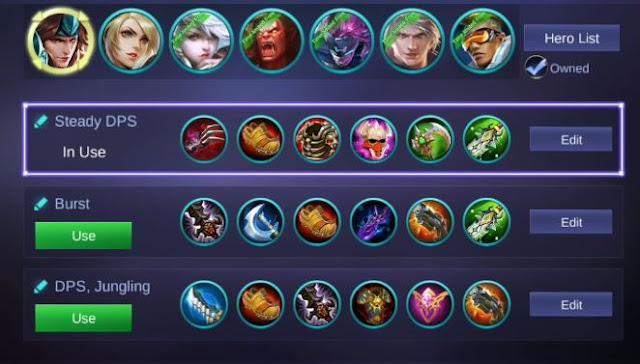 build gear item mobile legends