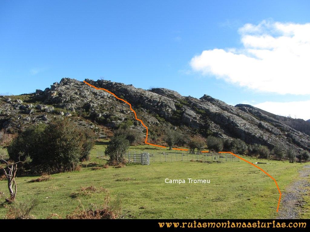 Ruta Tromeu y Braña Rebellón: Campa Tromeu