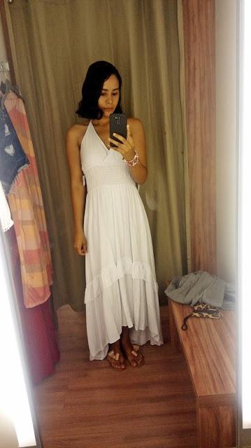 Garimpo Natal e Réveillon: Renner Shopping da Bahia vestido longo branco Renner
