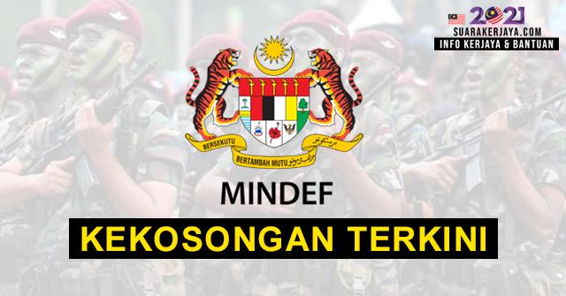Kementerian Pertahanan Malaysia Buka Pengambilan Kekosongan Jawatan Terkini Seluruh Malaysia ~ Minima SPM Layak Memohon!