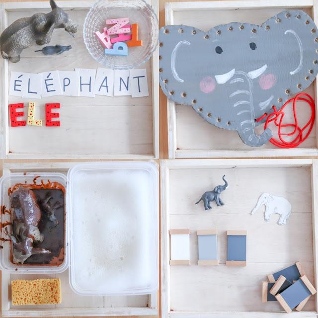 activités sur le thème de l'éléphant