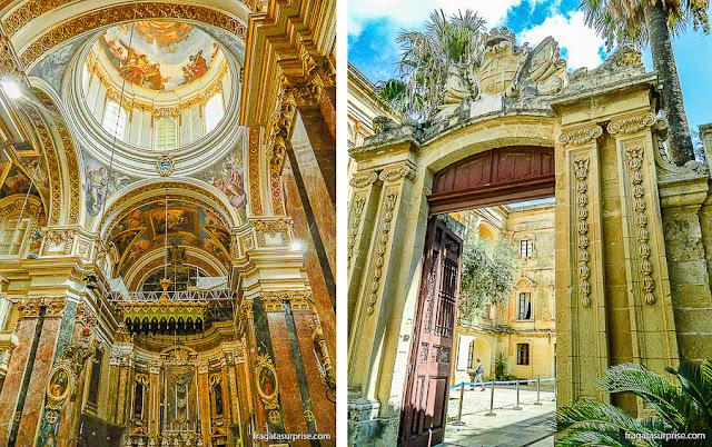 Catedral de São Paulo e Palácio Vilhena, em Mdina, Malta
