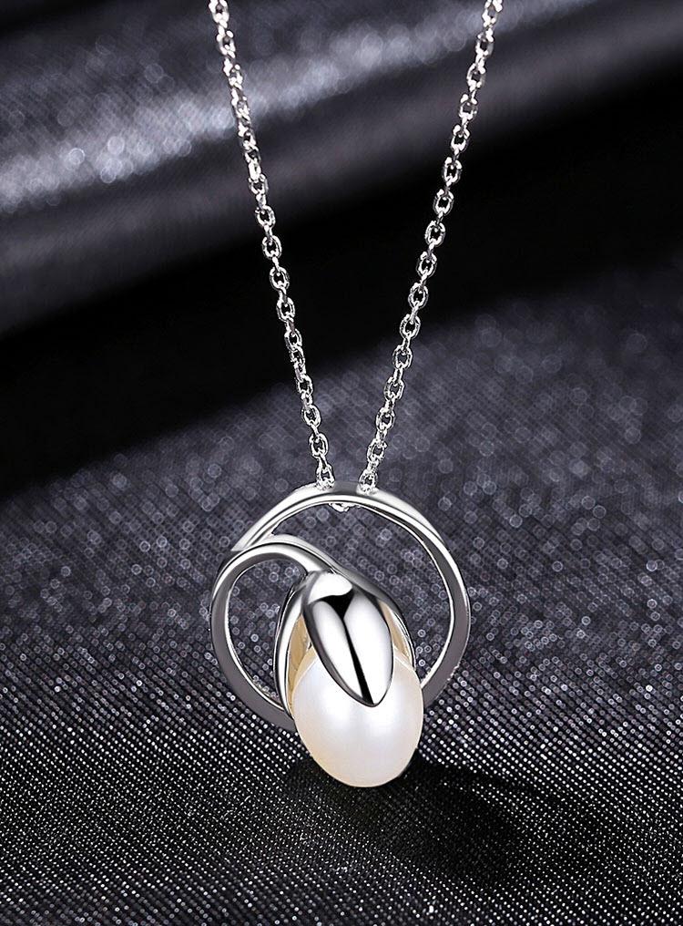 設計風圓‧鬱金香 925純銀項鍊