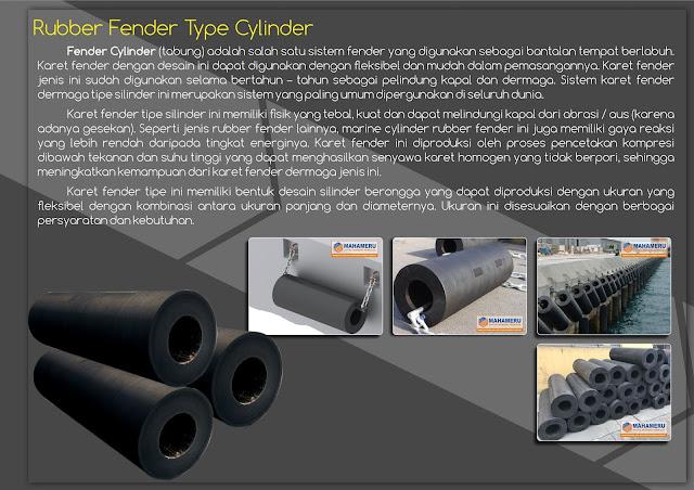 Rubber Fender Tipe cylinder 500 dermaga