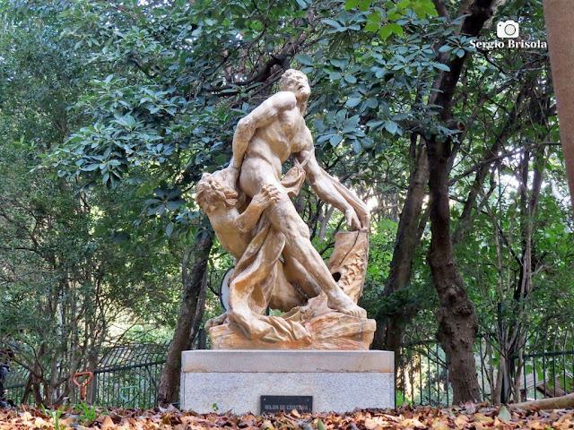 Close-up da Escultura Milon de Crotona - Parque Buenos Aires - Higienópolis - São Paulo
