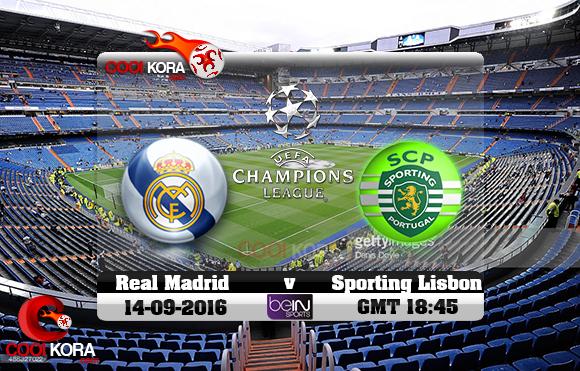 مشاهدة مباراة ريال مدريد وسبورتينج لشبونة اليوم 14-9-2016 في دوري أبطال أوروبا