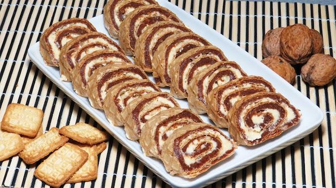 Ruladă cu Biscuiți și Cremă de Cocos