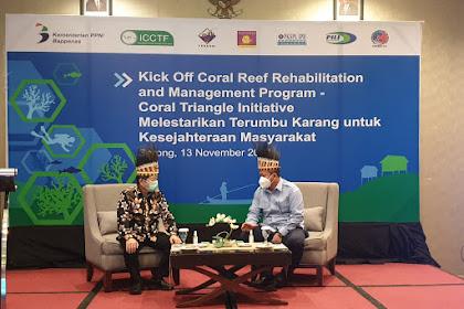 Menteri PPN Hadiri Kick Off Program Rehabilitasi Terumbu Karang di Papua Barat