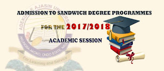 AAUA [IOE] Sandwich Degree Admission Form Out - 2017/2018