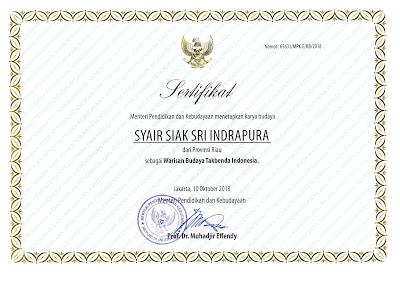 Warisan Budaya Tak Benda Riau 2018 Syair Siak Sri Indrapura (Siak)