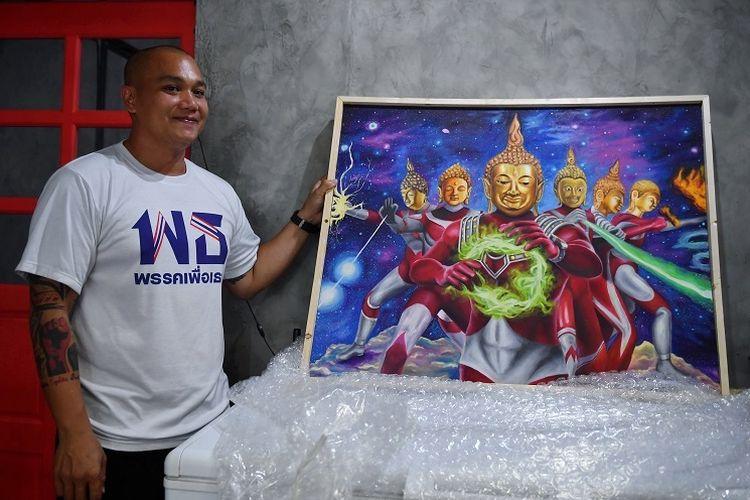 Lukisan Ultraman Bertubuh Budha Dapat Kecaman Dari Thailand