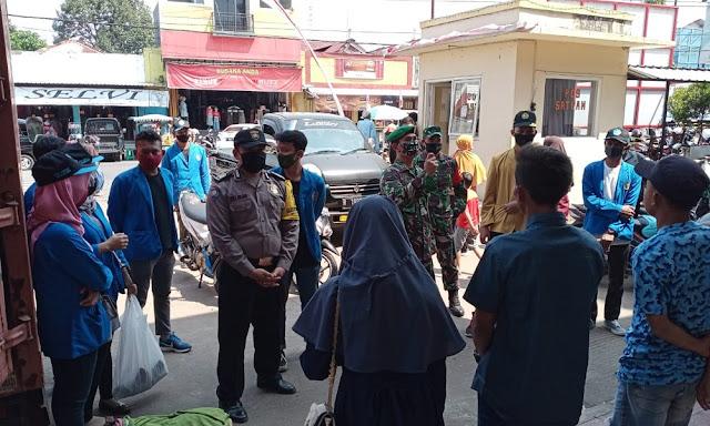 Razia Patuh Masker, Polisi Bobotsari  Sambangi  Pasar dan Terminal