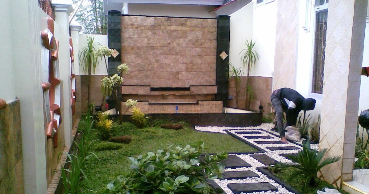 Desain Taman Batu Alam desain taman rumah asri destaman
