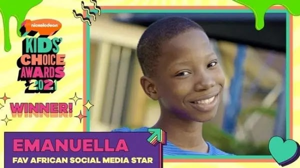 Nigeria's comedy star, Emanuella wins Nickelodeon 'Favorite African Social Media Star'