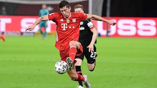 Lewandowski passes 50-goal mark This season as Bayern win 20th German Cup