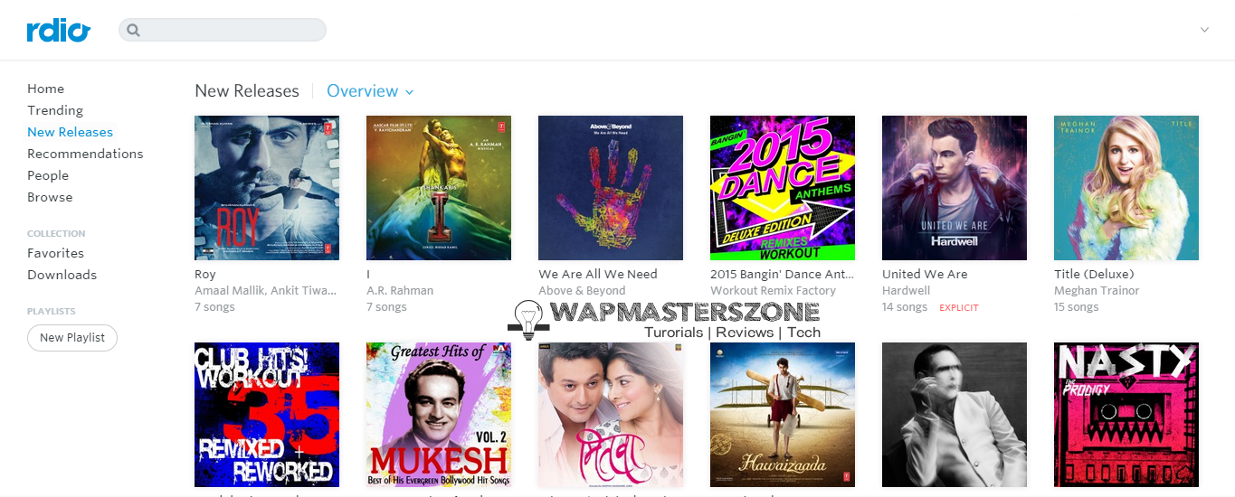Rdio (Dhingana) Now Available In India