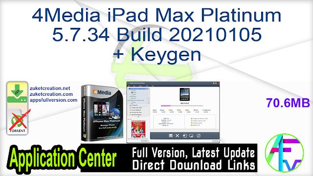 4Media iPad Max Platinum 5.7.34 Build 20210105 + Keygen