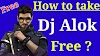 How to take dj alok character  in Free ?