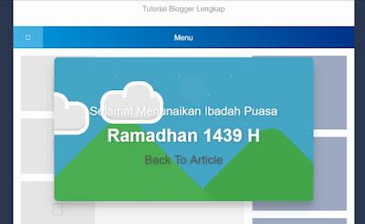 Cara Membuat Pop Up ucapan Selamat Menunaikan Ibadah Puasa di Bulan Ramadhan