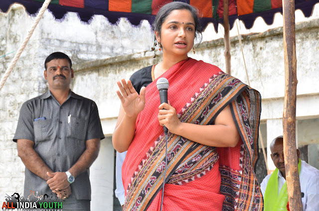 Sweta Mohanty at a meeting in wanaparthy