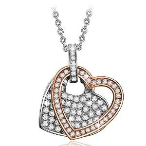 Pauline & Morgen Heart Women Necklace, Crystal Pendants, Deals today £14.99