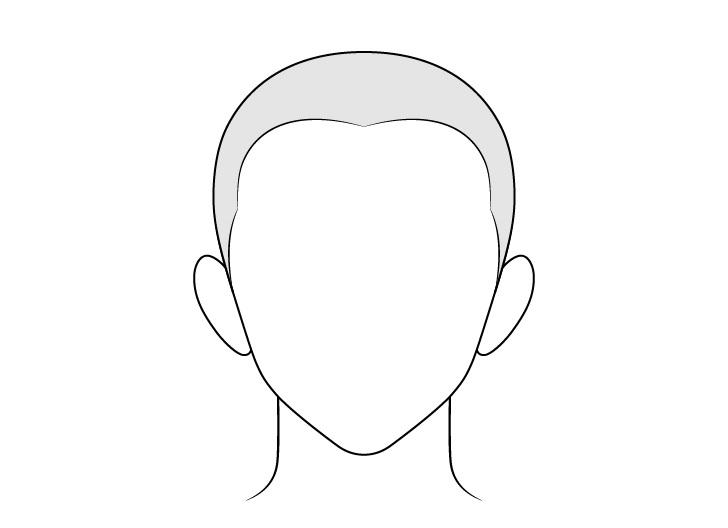 Gambar rambut pria anime buzz cut