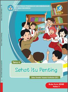 Buku Guru Kelas 5 Tema 4 Sehat itu Penting Kurikulum 2013 Revisi 2017
