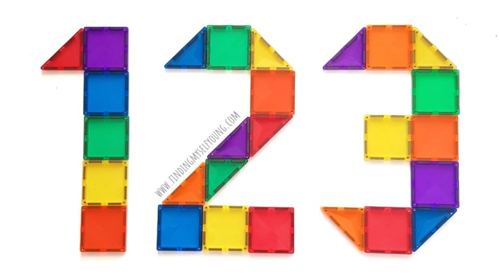 magnetic tiles in 123 numbers