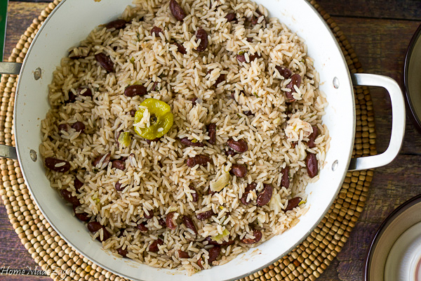 Authentic Rice and Peas recipe