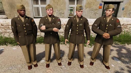 米陸軍の礼装を追加するArma3用US WWII Class A Dress Uniform MOD