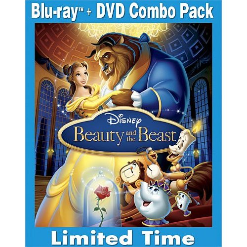 Blu-ray and dvd combo cover Beauty and the Beast 1991 animatedfilmreviews.blogspot.com
