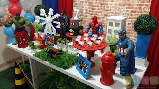 Decoração de festa infantil Super Herois
