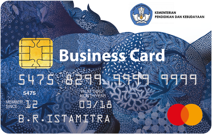Bri Business Card Kemendikbud