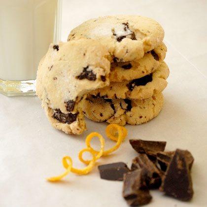 Orange Cookies with Chocolate Chunks