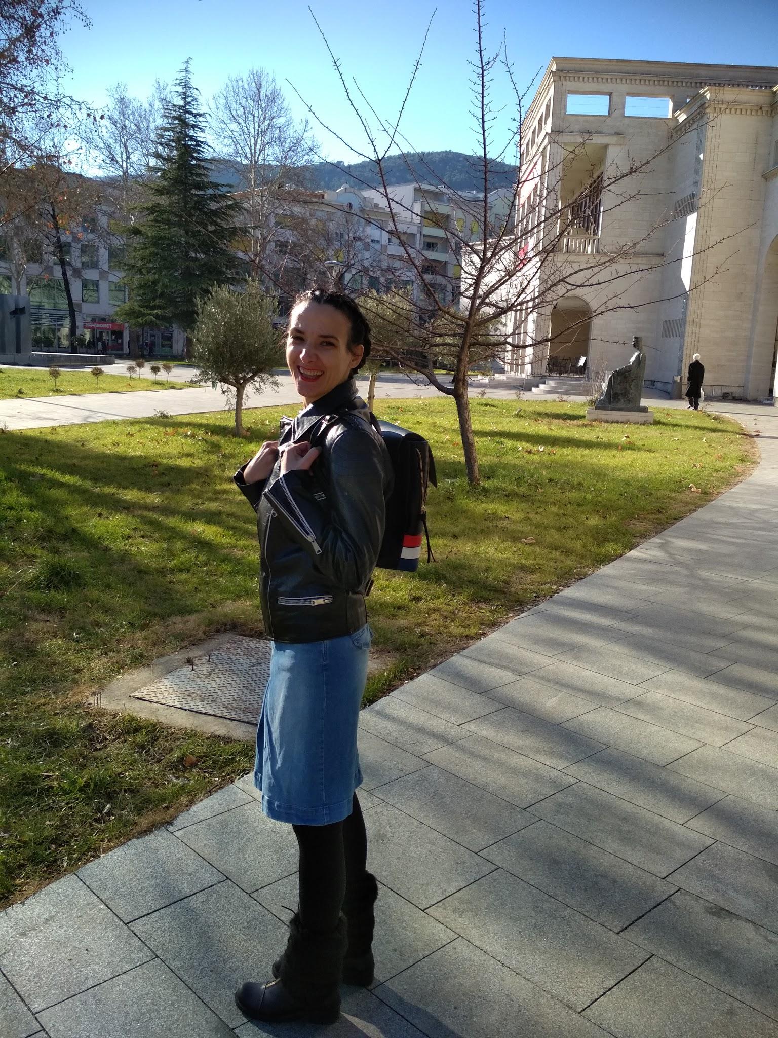 #fashionblog #oftd #leatherjacket #denim #backpack