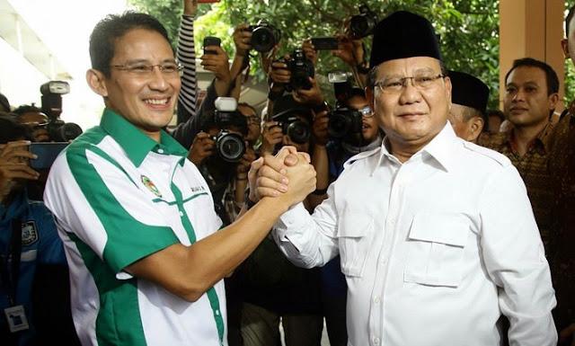 Busyet, Prabowo Subianto Berfatwa Bahwa Mereka Yang Tidak Mendukung Sandiaga Uno Adalah Antek Asing