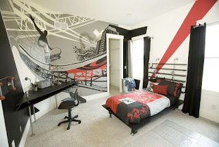 dormitorio moderno adolescente