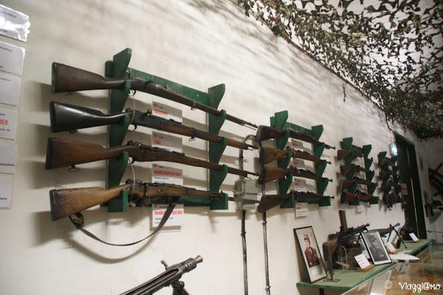 L'esposizione di alcune armi nel Four a Chaux di Lembach