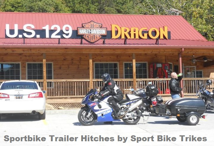 custom pull-behind motorcycle trailer hitches for sportbikes