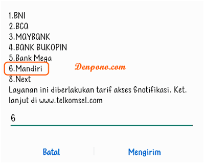 Cara Top Up ShopeePay Lewat SMS Banking Mandiri