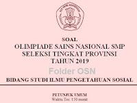 Soal dan Kunci Jawaban OSN IPS SMP Tingkat Provinsi 2019