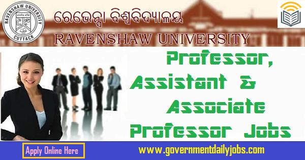 Ravenshaw University Jobs 2020 - 177 Associate Professor, Assistant Professor, Professor - Apply Now