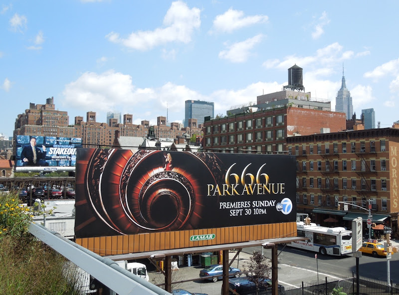 666 Park Avenue billboard High Line NYC