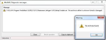 Gambar 4.10 Error to open file