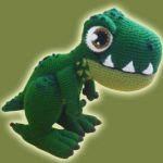 patron gratis dinosaurio amigurumi, free amigurumi pattern dinosaur